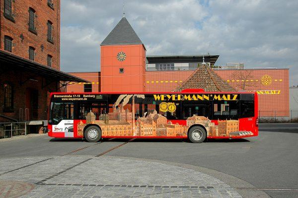 Buswerbung Bus Beschriftung